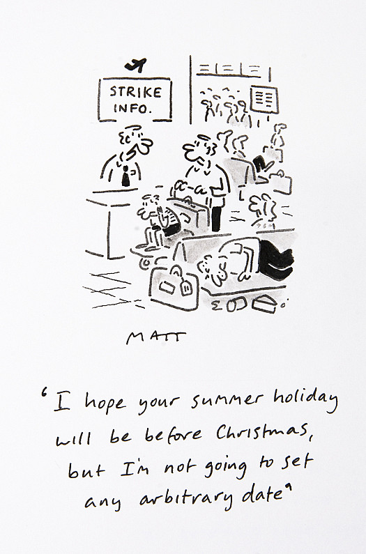 I hope your summer holiday will be before Christmas, but I'm not going to set any arbitrary date