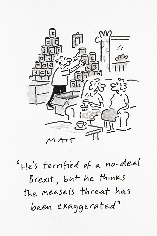He's terrified of a no-deal Brexit, but he thinks the measles threat has been exaggerated