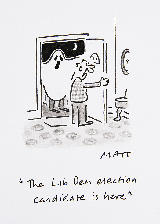 The Lib Dem election candidate is here