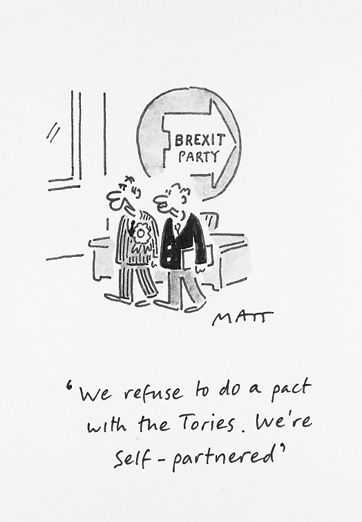 We refuse to do a pact with the Tories. We're self-partnered