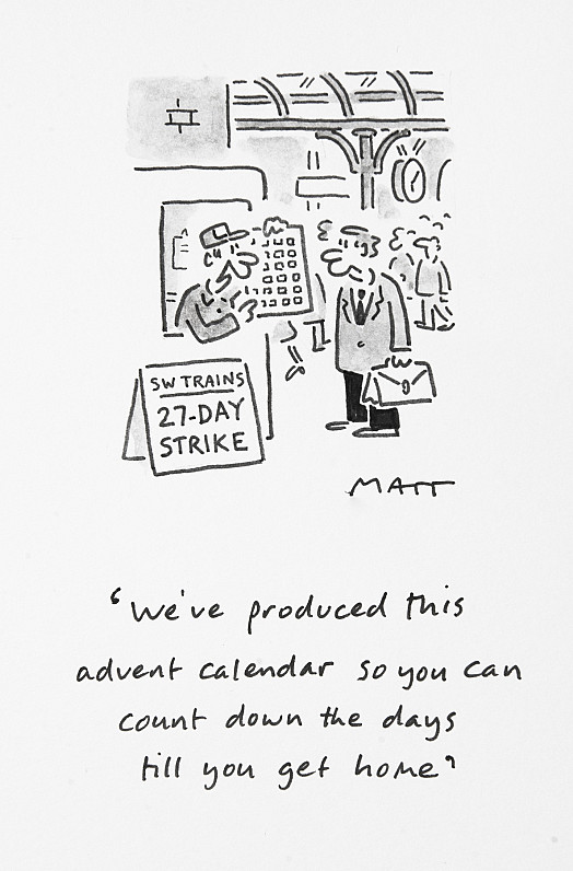 We've produced this advent calendar so you can count down the days till you get home