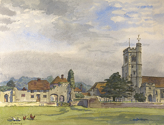 The Archbishop's Palace and the Church of St Peter and Paul, Charing, Kent