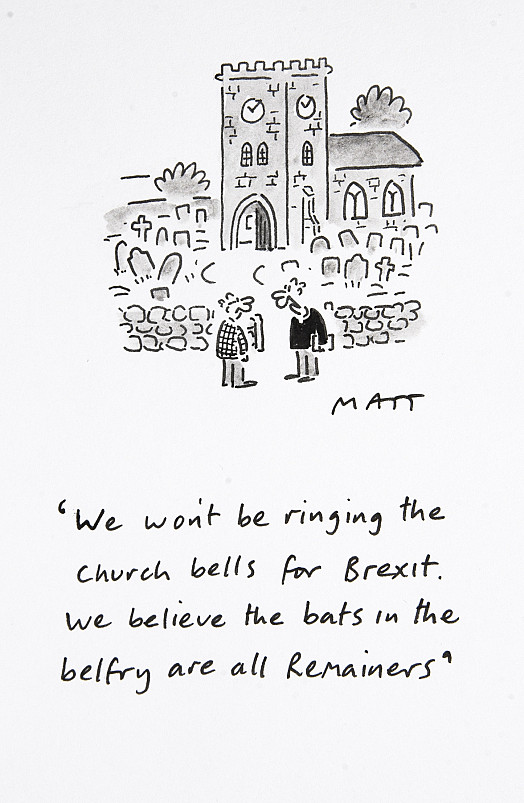 We won't be ringing the church bells for Brexit. We believe the bats in the belfry are all Remainers