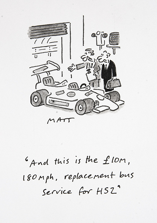 And this is the £10m, 180mph, replacement bus service for HS2