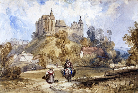 Travellers Near a Town In Northern France