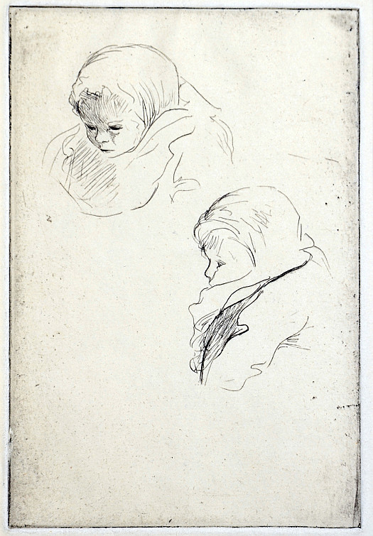 Studies: Children's Heads, C1925