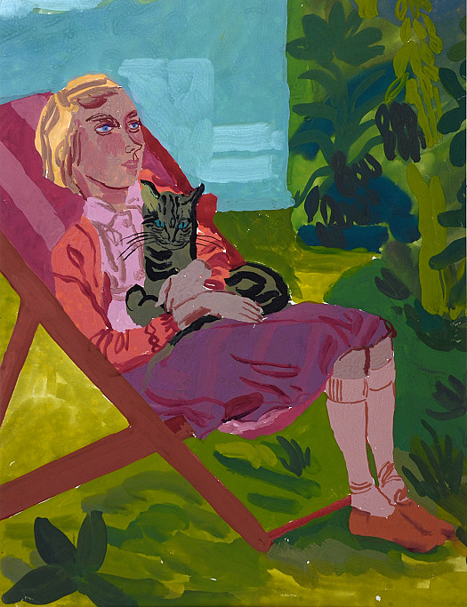 Deckchair and Cat
