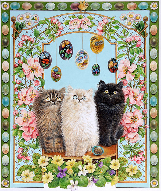 Easter with Anne's Kittens – Fionora, Cherubino and Dickens