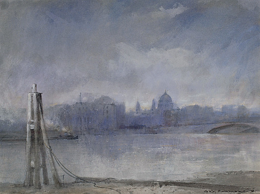 Mist On the Thames, London