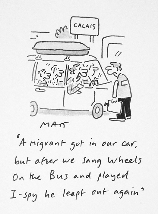 A Migrant Got In Our Car, but After We Sang Wheels On the Bus and Played I-Spy He Leapt Out Again