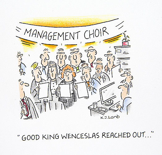 Good King Wenceslas reached out...