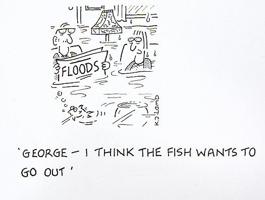 George - I think the fish wants to go out