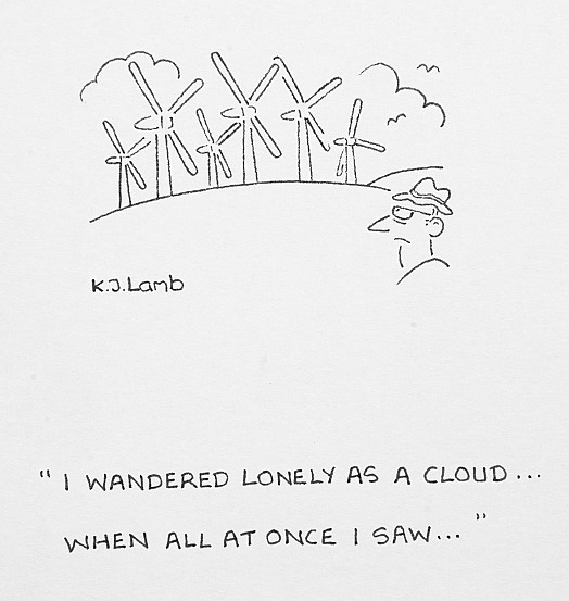 I wandered lonely as a cloud ... when all at once I saw ...