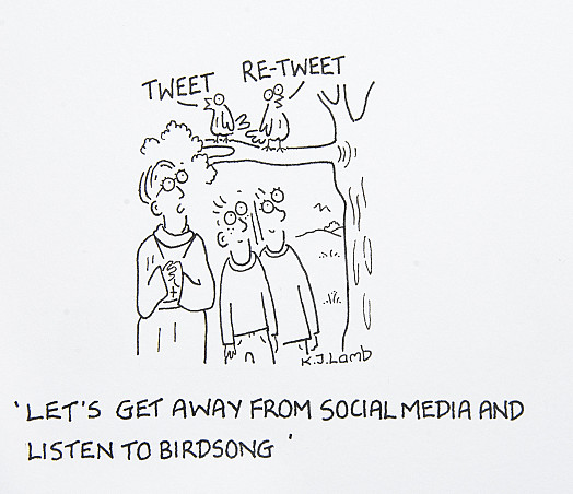 Let's get away from social media and listen to birdsong