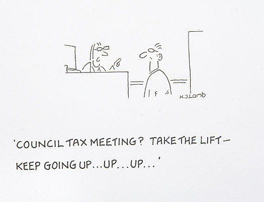 Council Tax meeting? Take the lift - keep going up ... up ... up ...