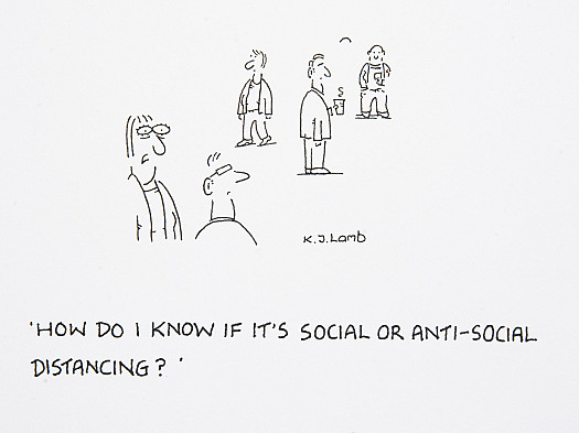 How do I know if it's social or anti-social distancing?