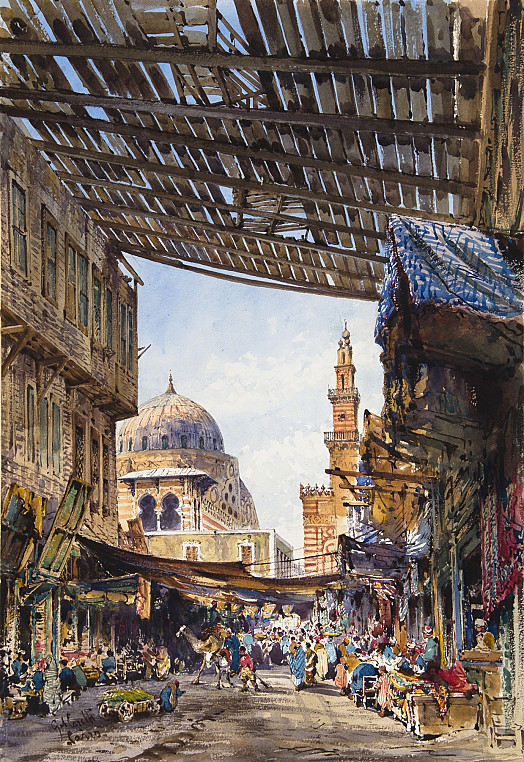 The Cotton Bazaar and Mosque of Sultan Al Ghuri, Cairo