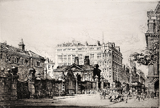 Piccadilly, with Devonshire House, Berkeley Hotel and the corner of the Ritz Hotel