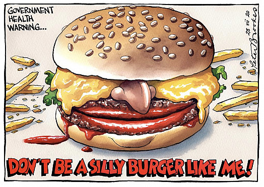 Don't be a silly burger like me!