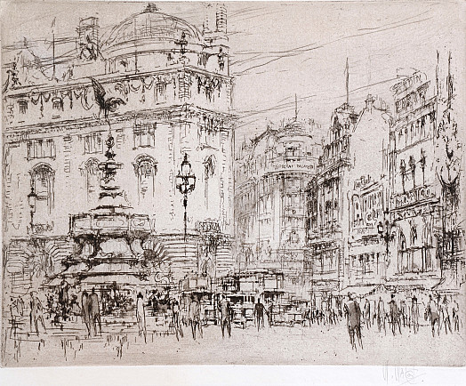 Piccadilly Circus and Glasshouse Street