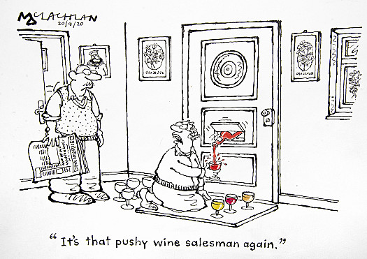 It's that pushy wine salesman again