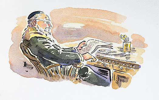 The rabbi knew he couldn't hope to begin on his sermon until he'd read the letter