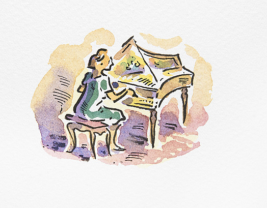 Philippa on the Spinet