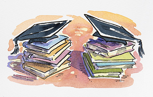 Books and Mortarboards