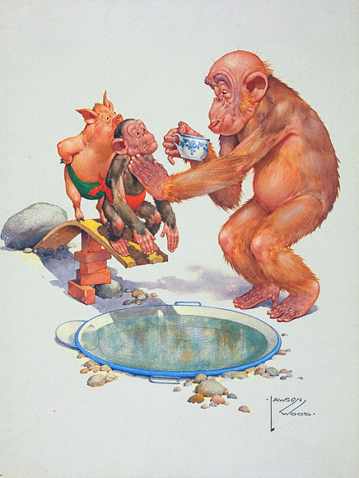 Porky and Chimp Thought a Swim Would Make Them Cool, 