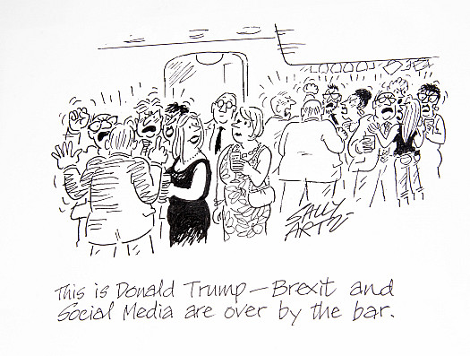 This is Donald Trump - Brexit and Social Media are over by the bar