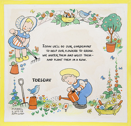 Today we'll do our gardening