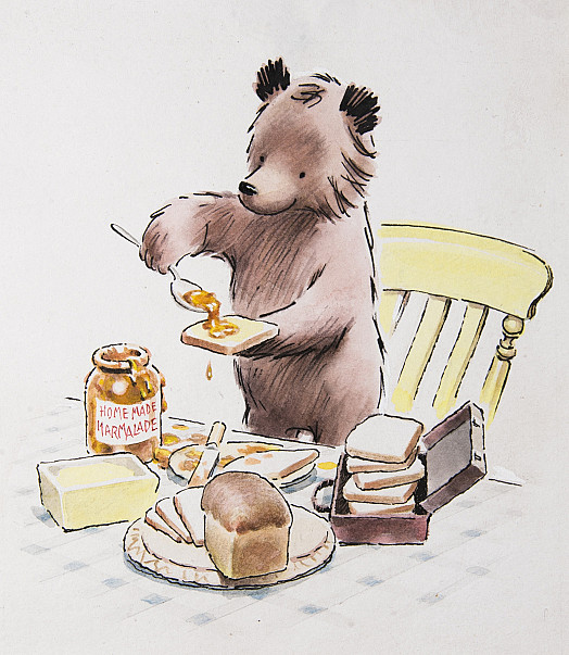 He began making some marmalade sandwiches