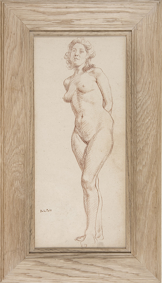 Standing Female Nude: with Arms Behind Her Back
