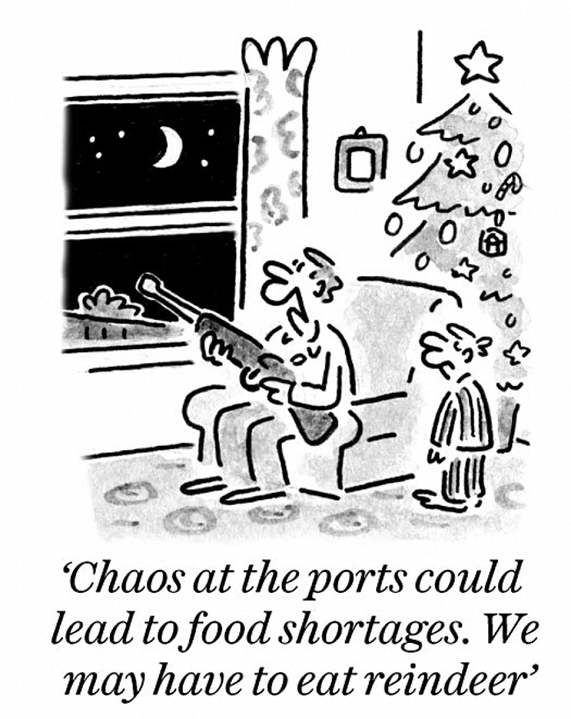 Chaos at the ports could lead to food shortages. We may have to eat reindeer