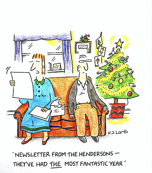 Newsletter from the Hendersons - they've had the most fantastic year