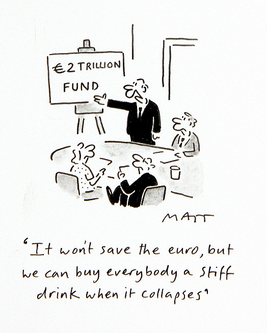 It Won't Save the Euro, but We Can Buy Everybody a Stiff Drink When It Collapses