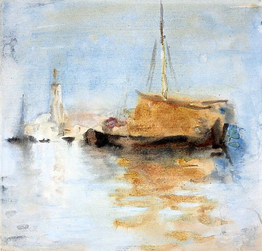 Sailing Boat On Venetian Lagoon