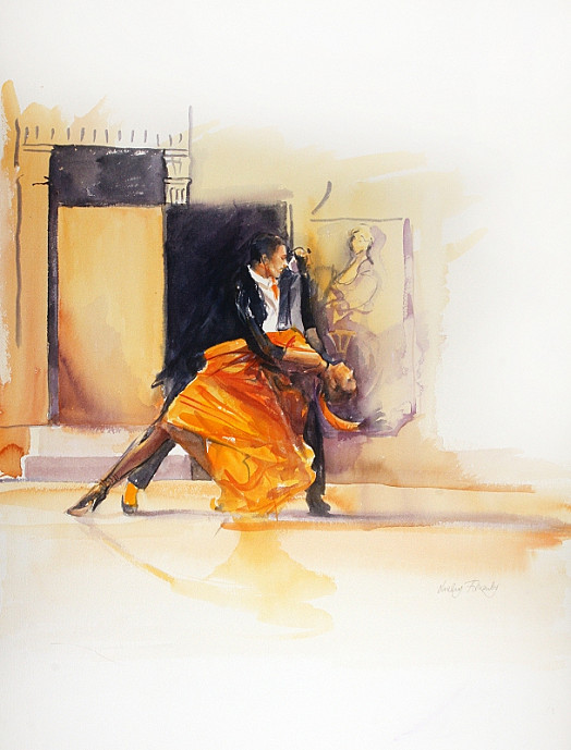 Dancing the Tango – Facade. Monica Zamora and David Justin Brb March '02