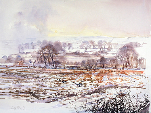 Snow On a Rutted Field – Spennithorne