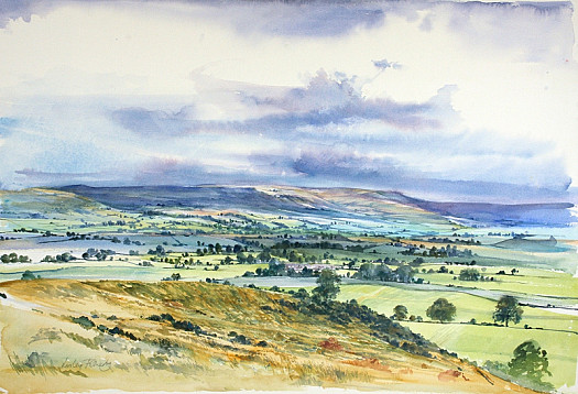 Rainclouds over the Valley, Wensleydale