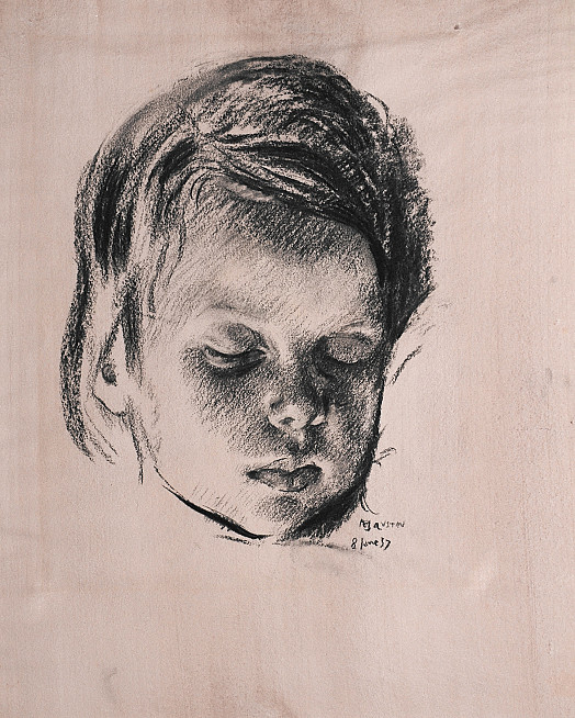 Head of a Sleeping Child