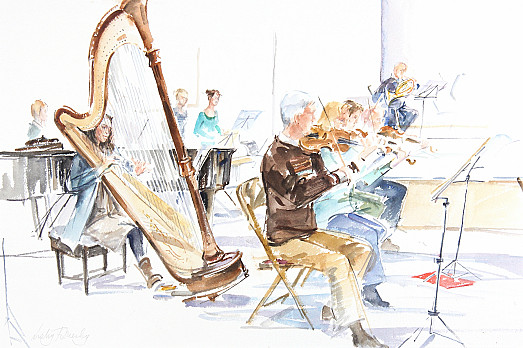 City of Cambridge Symphony Orchestra, Harp and Violins