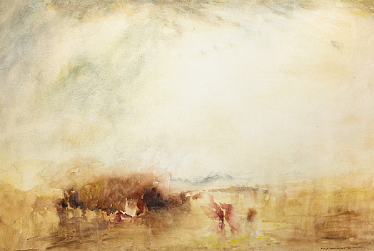 Venice.  Procession of Boats with Distant Smoke Souvenir of J M W Turner (C1845)