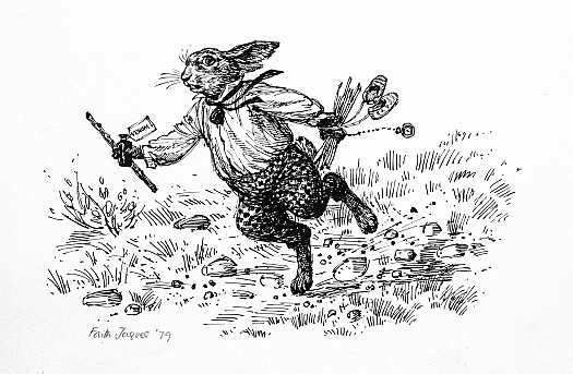 Rabbit Sped Along the Path