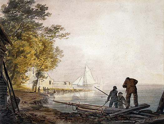 Cowes Castle with Boatmen On the Shore
