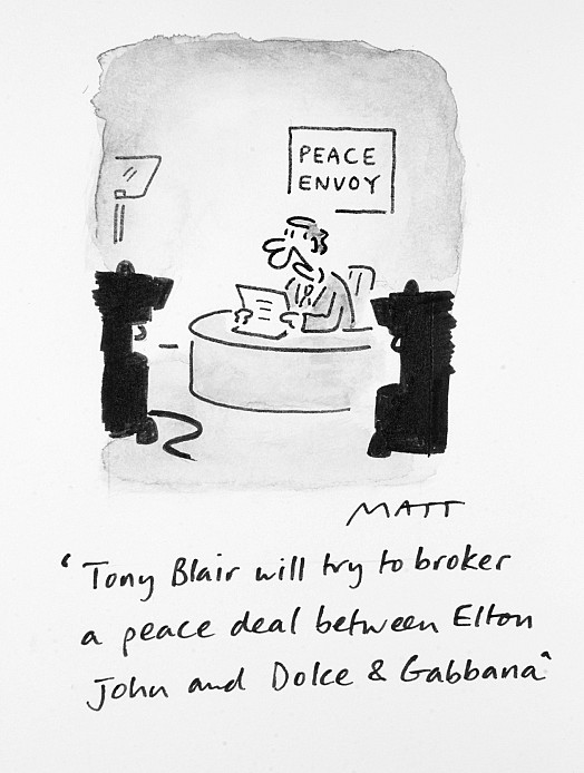 Tony Blair Will Try to Broker a Peace Deal Between Elton John and Dolce & Gabbana