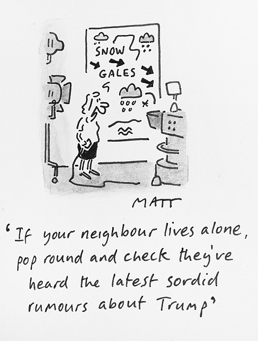 If Your Neighbour Lives Alone, Pop Round and Check They've Heardthe Latest Sordid Rumours About Trump
