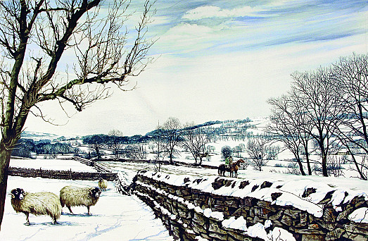 Riders with Sheep, Winter