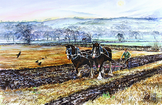 Ploughing On a Misty Afternoon