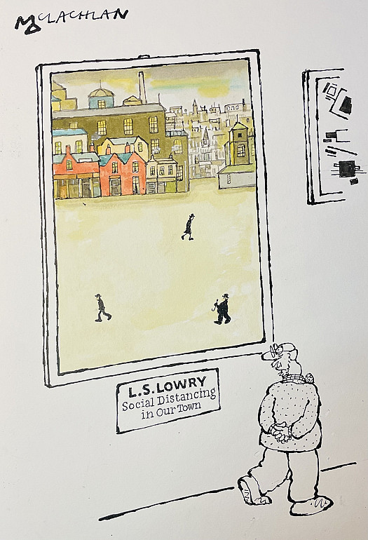 L.S. LowrySocial Distancing in Our Town